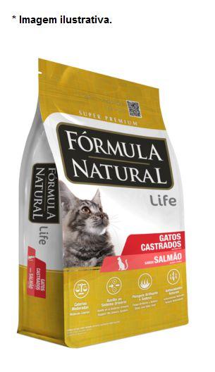 Ração Fórmula Natural para Gatos Castrados Salmão 7kg (14x500gr)