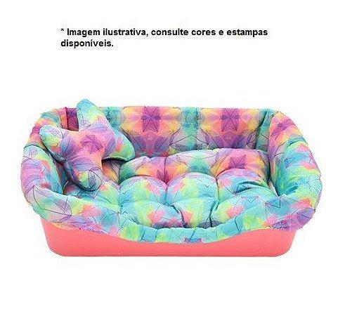 Cama Plástica Super Pet Bed PetMaxx fofinha com almofadinha de osso tamanho M