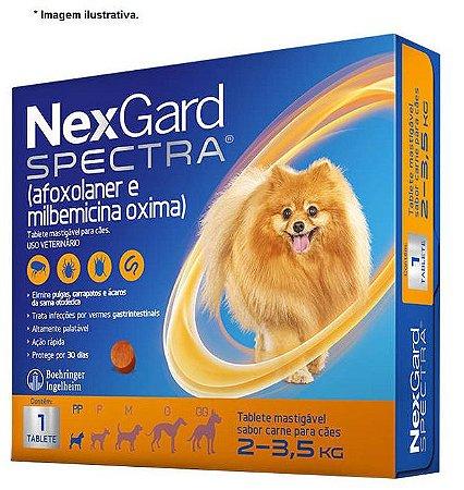 Antipulgas, Carrapatos, Sarnas e Vermes Nexgard Spectra 2kg á 3,5kg
