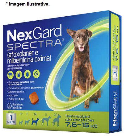 Antipulgas, Carrapatos, Sarnas e Vermes Nexgard Spectra 7,6kg á 15kg