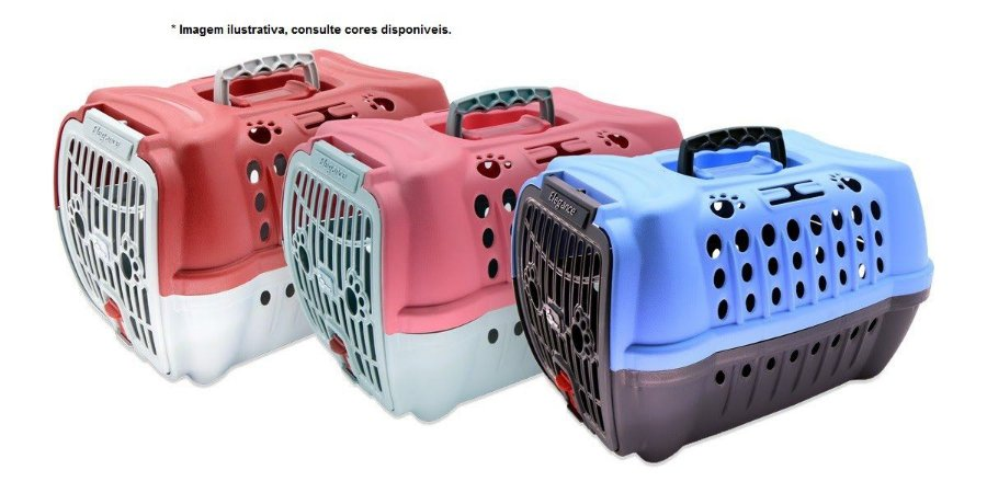 Caixa de Transporte Elegance Confort da Club Pet com almofadinha Nº1