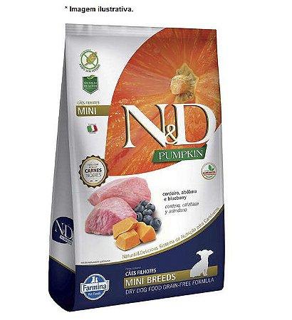 Ração Farmina N&D Pumpkin Carnes Nobres Cordeiro para Cães Filhotes de Raças Pequenas 10,1kg