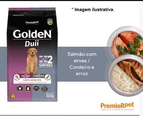 Ração Golden Duii Cães Adulto Salmão e Cordeiro 10,1kg