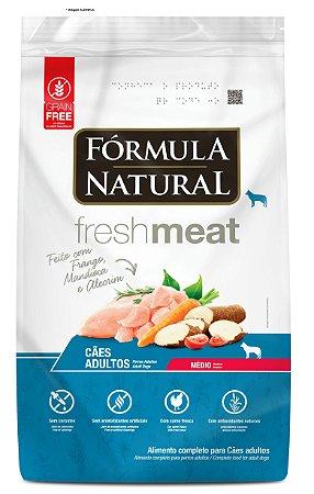 Ração Fórmula Natural Fresh Meat Cães Adultos Porte Médio 12kg