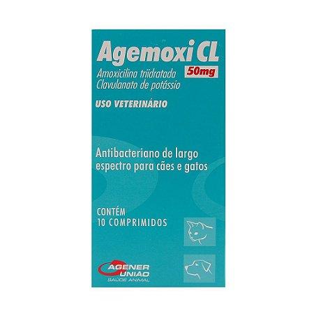 Antibiótico Agener União Agemoxi CL 50MG 10 comprimidos