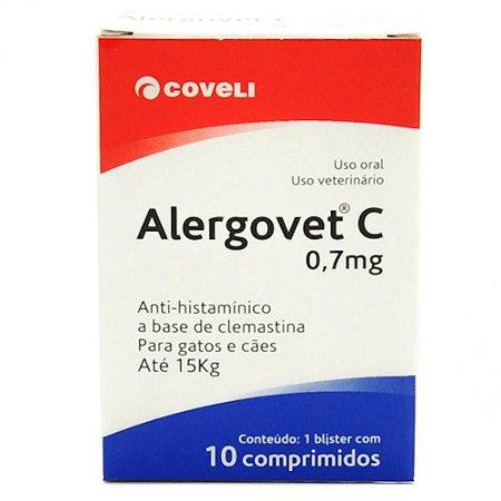 Antialérgico Coveli Alergovet C 0,7 mg 10 comprimidos