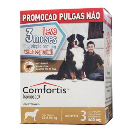 Antipulgas Elanco Comfortis 1620 mg para Cães de 27 a 54 Kg 3 unidade