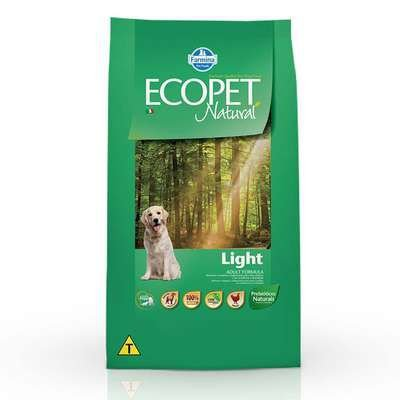 Ração Farmina Ecopet Natural Light para Cães Adultos de Raças Médias e Grandes 15kg