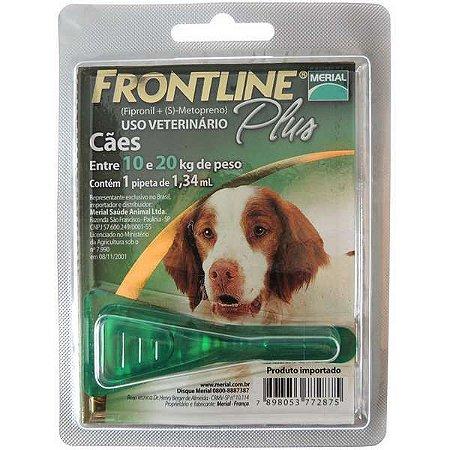 Antipulgas e Carrapatos Frontline Plus para Cães de 10 a 20 Kg 1 unidade