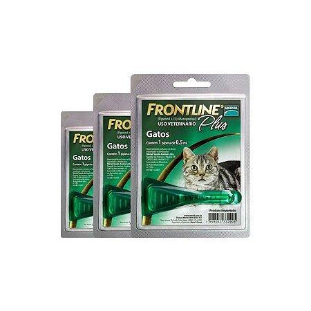 c4b0b5771 Antipulgas e Carrapatos Frontline Plus para Gatos 3 unidades combos ...