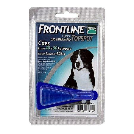 Antipulgas e Carrapatos Frontline Top Spot para Cães de 40 a 60 Kg  1 unidade