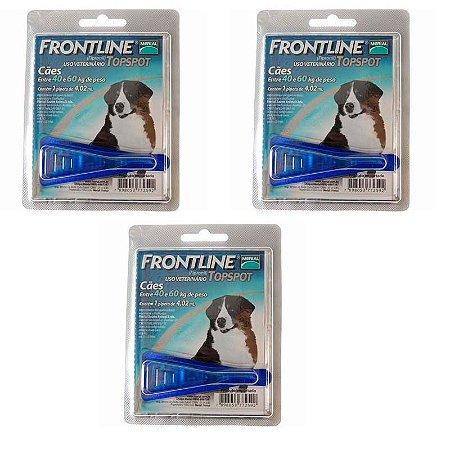 Antipulgas e Carrapatos Frontline Top Spot para Cães de 40 a 60 Kg  3 unidade