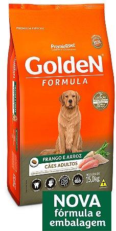 Ração Golden Formula Cães Adultos Frango e Arroz 15kg