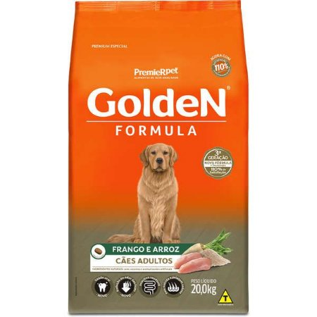 Ração Golden Formula Cães Adultos Frango e Arroz 20kg