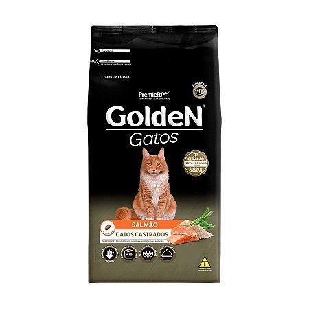 Ração Golden Gatos Castrados Salmão 10,1kg