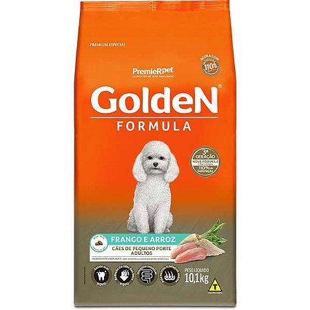 Ração Golden Formula Cães Adultos Frango e Arroz Mini Bits 10,1kg