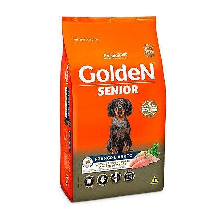 Ração  Golden Formula Cães Sênior Mini Bits Frango e Arroz 10,1kg