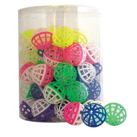 Brinquedo Para Gatos Bola Plástica Com Guizo- Unidade