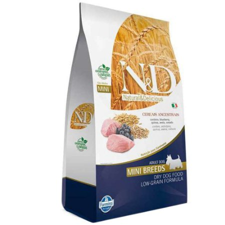 Ração Farmina N&D Ancestral Grain Cordeiro Cães Adultos Raças Pequenas 10,1kg