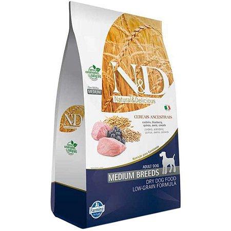 Ração Farmina N&D Ancestral Grain Cordeiro Cães Adultos Raças Médias 10,1kg