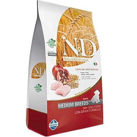 Ração Farmina N&D Ancestral Grain Frango Cães Filhotes de Raças Médias 10,1kg