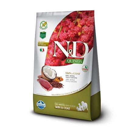 Ração N&D Quinoa Skin & Coat Pato Cães Adultos de Todas as Raças 2,5kg