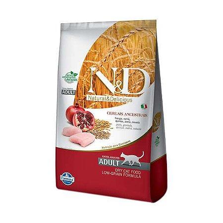 Ração Farmina N&D Low Grain Frango para Gatos Adultos 1,5kg