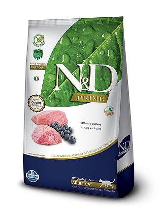 Ração Farmina N&D Prime Grain Free Cordeiro para Gatos Adultos 1,5kg