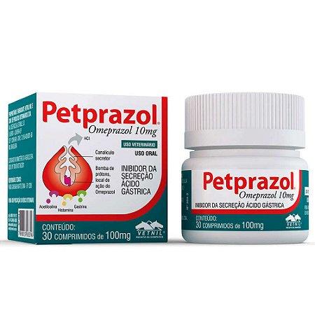 Petprazol Inibidor de Secreção Ácido-Gástrica Vetnil 10mg 30 comprimidos