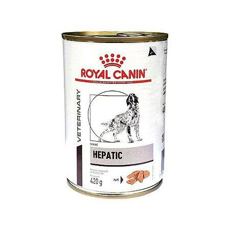 Ração Ùmida Royal Canin Lata Canine Veterinary Diet Hepatic Wet 420g