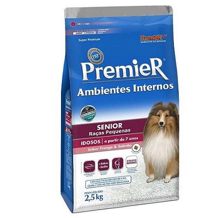Ração Premier Ambientes Internos Cães Raças Pequenas Sênior 2,5kg