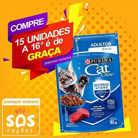 Ração Úmida Purina Cat Chow Sachê Adulto Carne - 85g