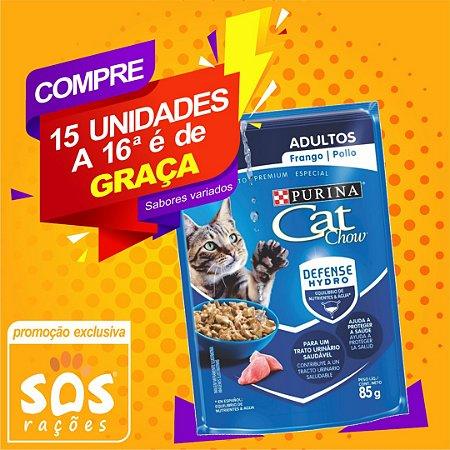 Ração Úmida Nestlé Purina Cat Chow Adultos Sachê Frango ao Molho - 85g
