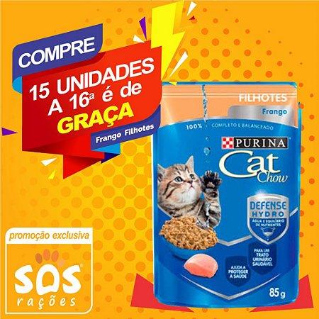 Ração Úmida Nestlé Purina Cat Chow Filhotes Sachê Frango ao Molho - 85g