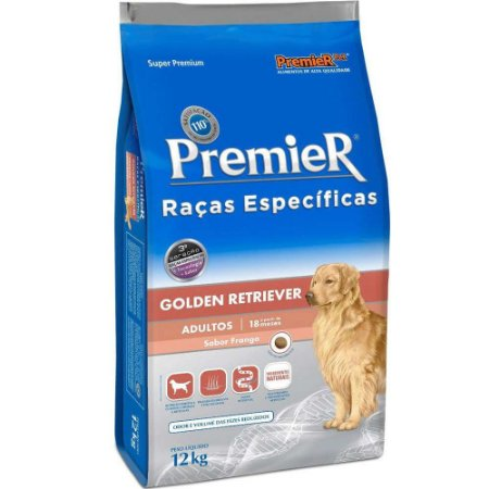 Ração Premier Raças Específicas Golden Retriever Adulto 12kg