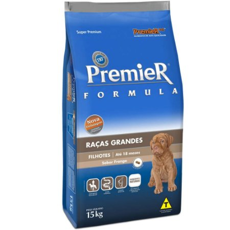 Ração Premier Formula Cães Filhotes Raças Grandes e Gigantes Frango 15 Kg