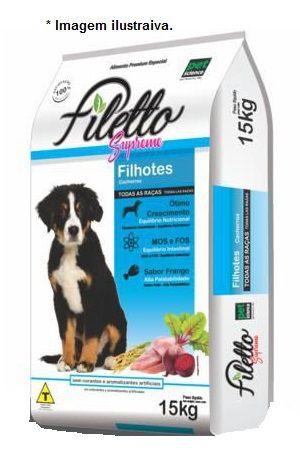 Ração Filetto Supreme Premium Especial para cães Filhotes Frango 15kg