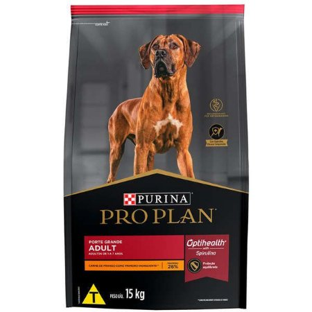 Ração Nestlé Purina Pro Plan Frango para Cães Adultos Raças Grandes 15kg