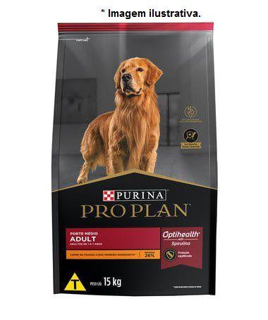 Ração Super Premium Purina Pro Plan Frango para Cães Adultos Médios 15kg