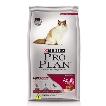 Ração Nestlé Purina Pro Plan Salmão & Arroz para Gatos Adultos 7,5kg