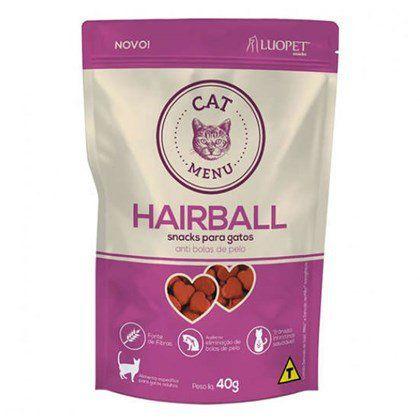 Petisco Luopet Cat Menu Hairball - 40g                *Imagem Meramente Ilustrativa*