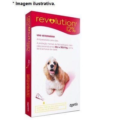 Antipulgas e Carrapatos Zoetis Revolution 12% para Cães de 10 a 20 Kg 120 mg - 1 unidade