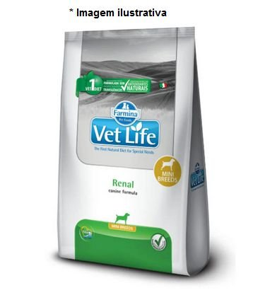 Ração Farmina Vet Life Natural Renal Mini Breeds para Cães 2kg