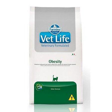 Ração Farmina Vet Life Natural Obesity para Gatos Adultos 2kg