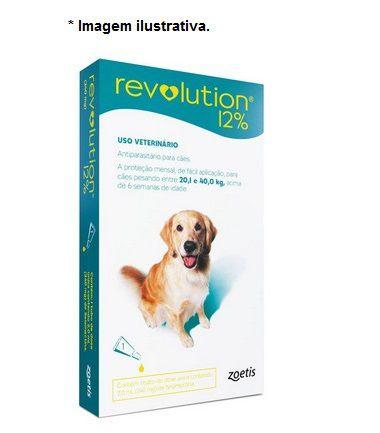 Antipulgas e Carrapatos Zoetis Revolution 12% para Cães de 20 a 40 kg - 240 mg 1 unidade