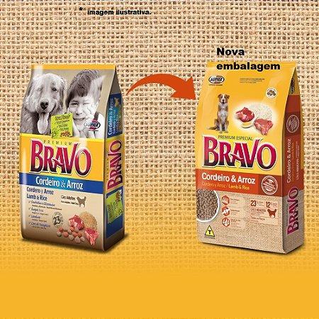 Ração Premium Especial Bravo Adulto Cordeiro e Arroz 20kg