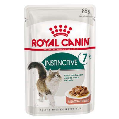 Ração Royal Canin Sachê Feline Health Nutrition Instinctive +7 - 85gr para Gatos Adultos