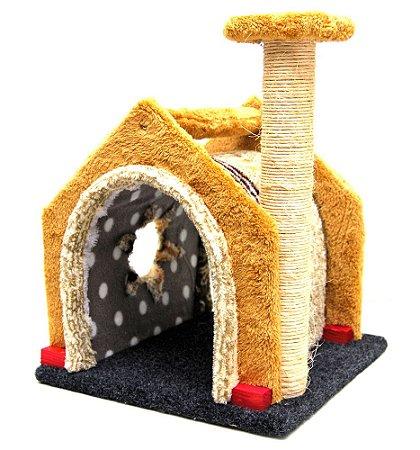 Brinquedo Gatos Arranhador Casinha c/ poste - Dody Toy     *Imagem Meramente Ilustrativa*