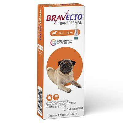 Antipulgas e Carrapatos MSD Bravecto Transdermal para Cães de 4,5 a 10Kg