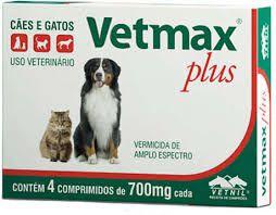 Vermífugo Vetmax Plus- comprimidos para cães e gatos - 4comprimidos